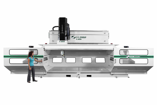Compact High Rail CNC Machining Center with Enclosure Open