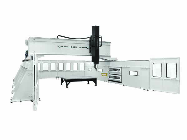 High Rail CNC Machining Center Doors Open